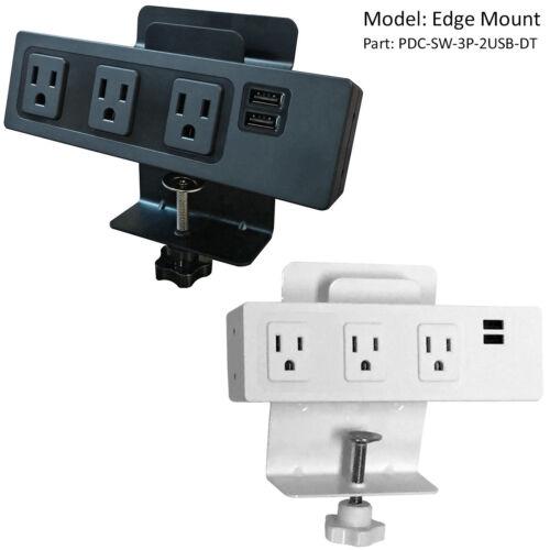 USB Charge Black Universal Mount Desk Power Centers White AC Power