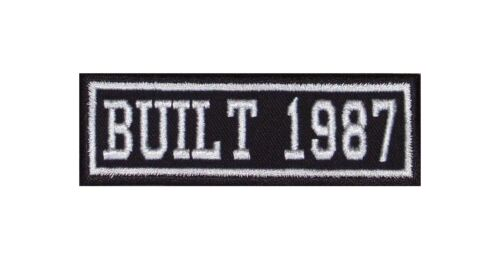 Built 1987 Biker Patchs Year of Birth construction Number Motorcycle MC badge