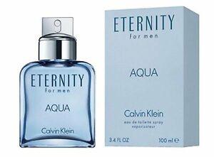 Eternity Aqua by Calvin Klein for Men Cologne 3.4 oz EDT New in Box