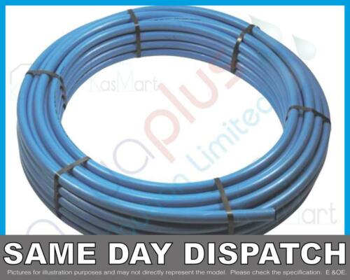 Blue Coil Water MDPE Mains Alkathene Pipe20mm 25mm 32mm x 25m 50m 100m Rolls