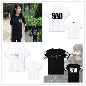 Fancy Ladies Mens Sports Tshirt Anime Sword Art Online T Shirts Casual Top Tee