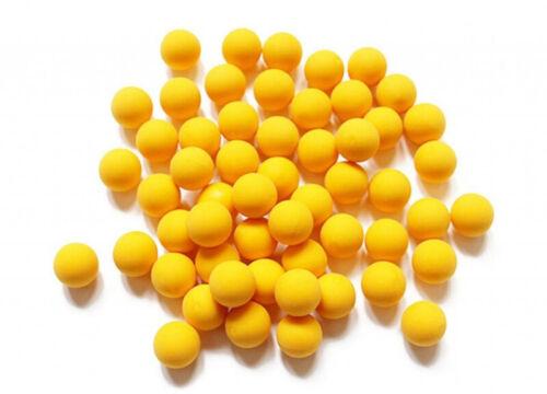 Wearable4U .68 Cal Reusable Yellow Rubber Balls for Paintball Gun 100 pack
