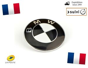 Logo-BMW-74mm-Coffre-Serie-3-E90-E46-Berline-Coupe-Black-Noir-Blanc
