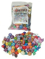 Chessex Pound-o-dice Bag Assorted Color Shape Size Pound O' Dice 100+ Die Game