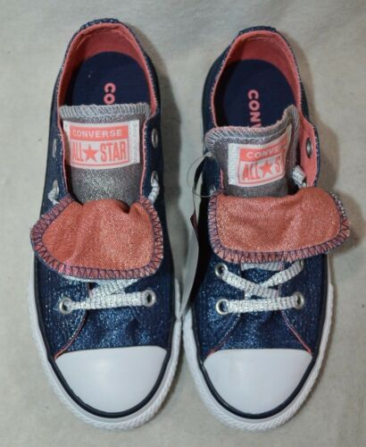 Converse CTAS Double Tongue OX Navy//Sunblush//White Girl/'s Sneakers-11//12//1//4//5//6