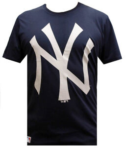 New-Era-MLB-OG-New-York-Yankees-Camiseta-Logo-Azul-Marino-FAN-m-L-XL-XXL-T