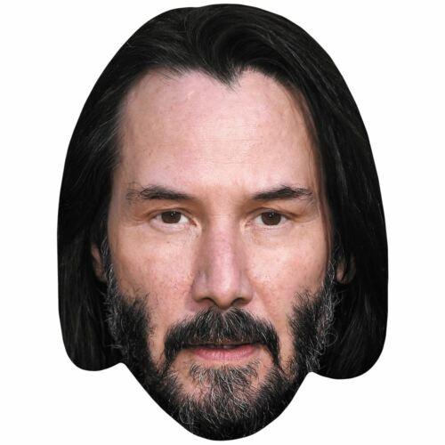 Celebrità Maschera Keanu Reeves Barba Biglietto Faccia E Maschera Costume