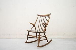 Illum wikkelsoe rocking chair 60er danish schaukelstuhl for Schaukelstuhl 60er jahre