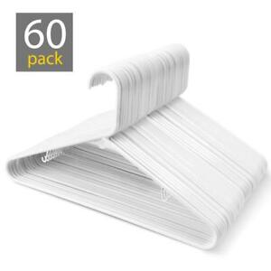 Black Plastic Tubular Adult Hangers 16.5 Inch Light-Weight Plastic