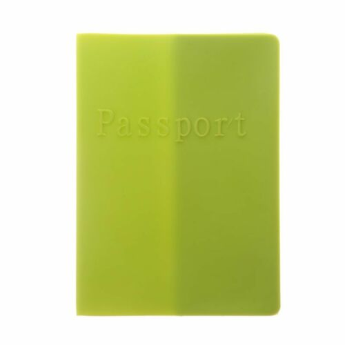Candy Color Soft Silicone Passport Case Cover Ticket Cards Holder Travel Unisex
