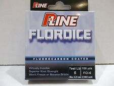 2 Spools NEW P-Line Floroice Fluorocarbon Coated Mono Line Clear 100Yd 3Lb Clear