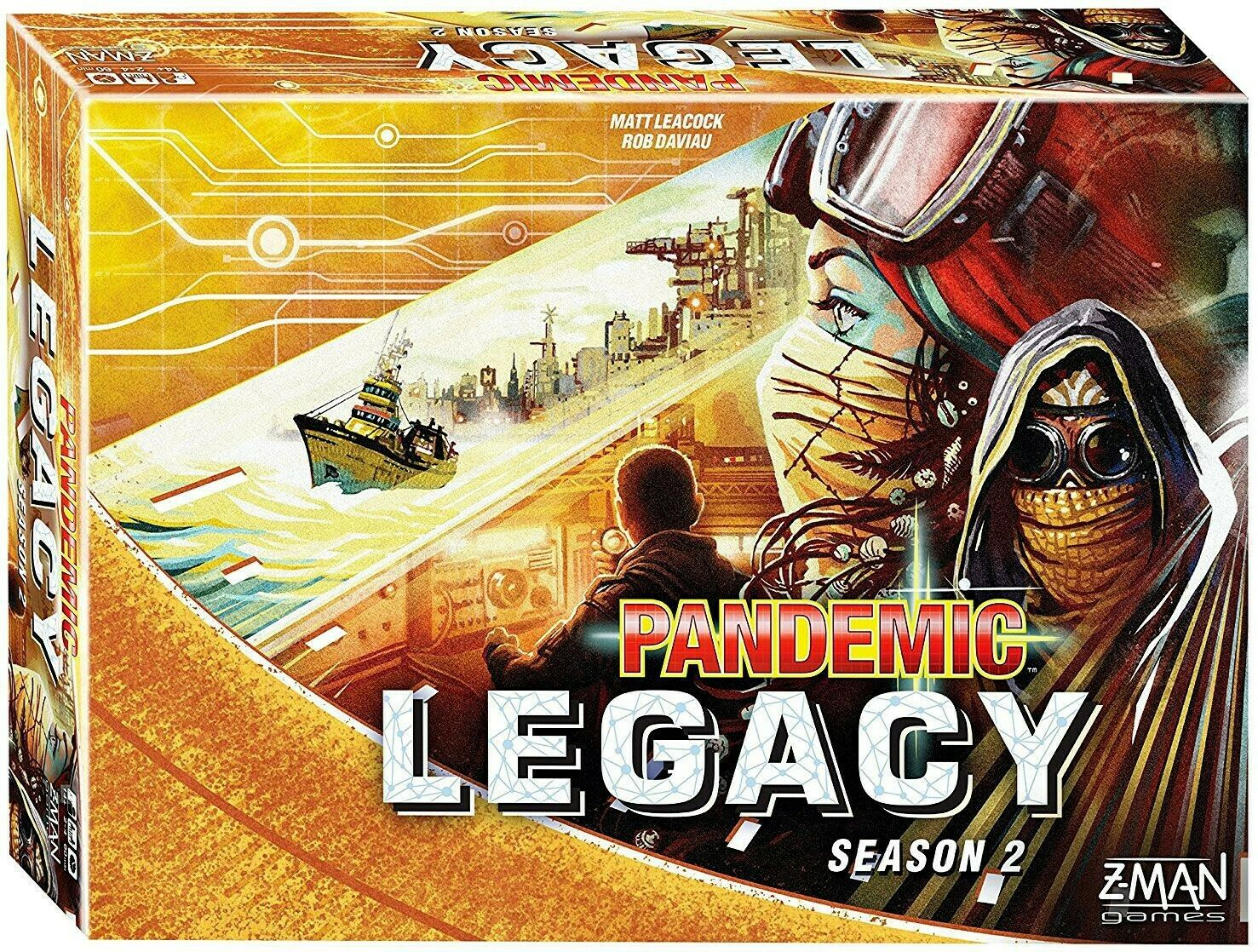 Pandemic Legacy  Season 2 Board Game [amarillo Edition]