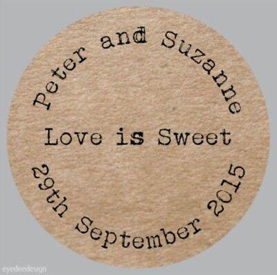 Personalizzato Wedding Shabby Marrone Kraft Effetto Favorisce Love Torta 257- Volume Grande
