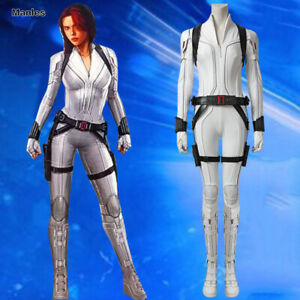 Details About Black Widow 2020 Natasha Romanoff Cosplay Costume Women White Suit Halloween New