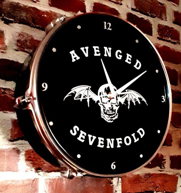 AVENGED SEVENFOLD - UPCYCLED DRUM CLOCK