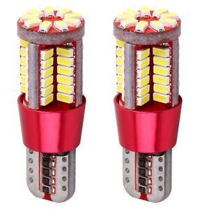 2X-T10-Clear-Light-CANBUS-ERROR-FREE-501-194-W5W-3014-57SMD-Car-LED-Light-Bulbs