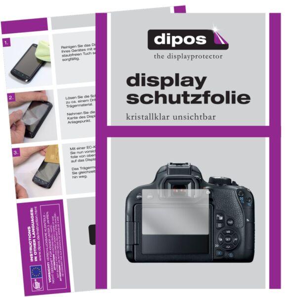 6x Canon Eos 800d Film De Protection D'écran Protecteur Clair Dipos