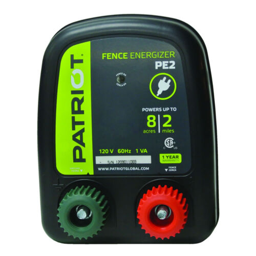 PE2 Fence Energizer 0.10 Joule for electric fence Patriot