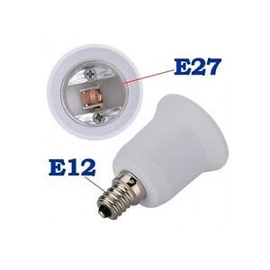 US 1-10pcs E12 to E27 Base Chandelier LED Light Bulb Lamp Adapter ...