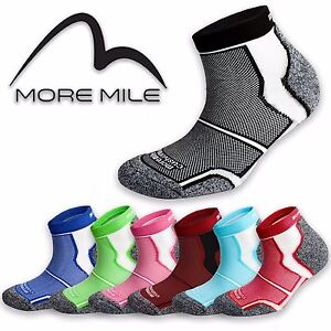 Sports-Running-Socks-5-Pairs-More-Mile-Cushioned-COOLMAX-Padded-Mens-Ladies