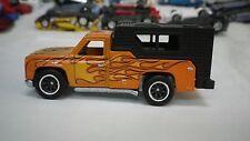 2015 Hot Wheels Orange Chevy Backwoods Bomb Camper Truck Custom Real Riders