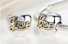 New European Silver CZ Charm Beads Fit sterling 925 Necklace Bracelet Chain j4