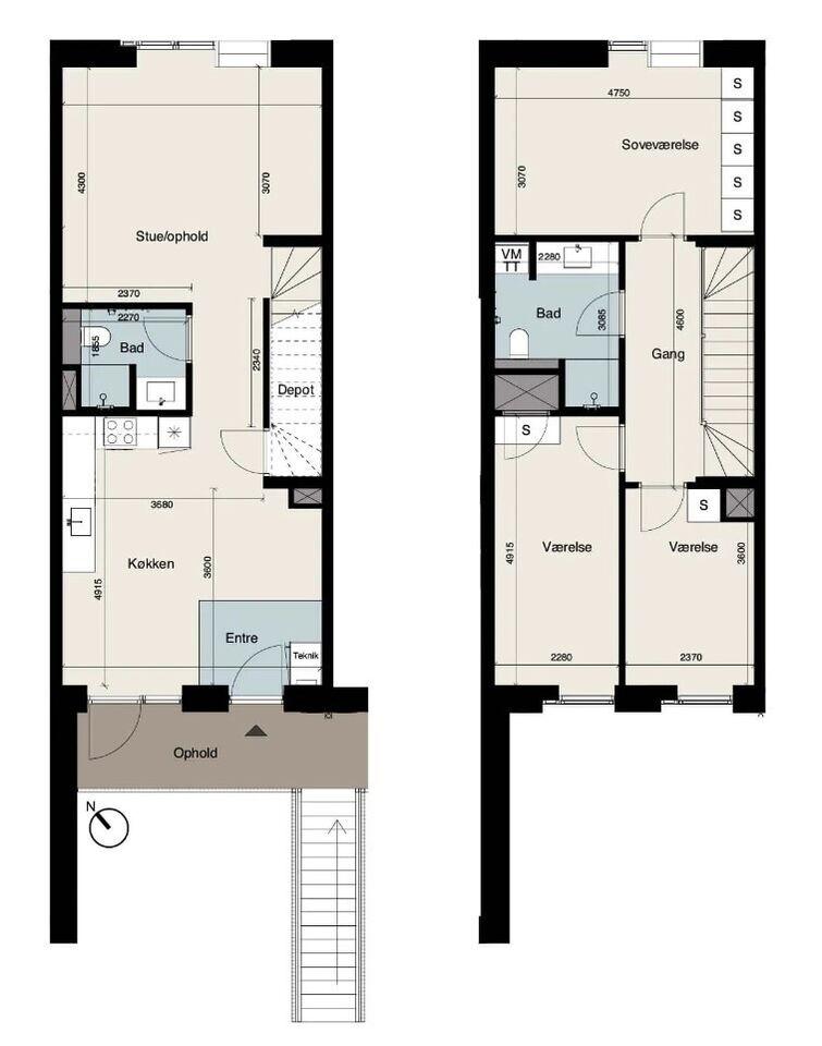 2800 vær. 4 lejlighed, m2 133, Karen Schaks Vej