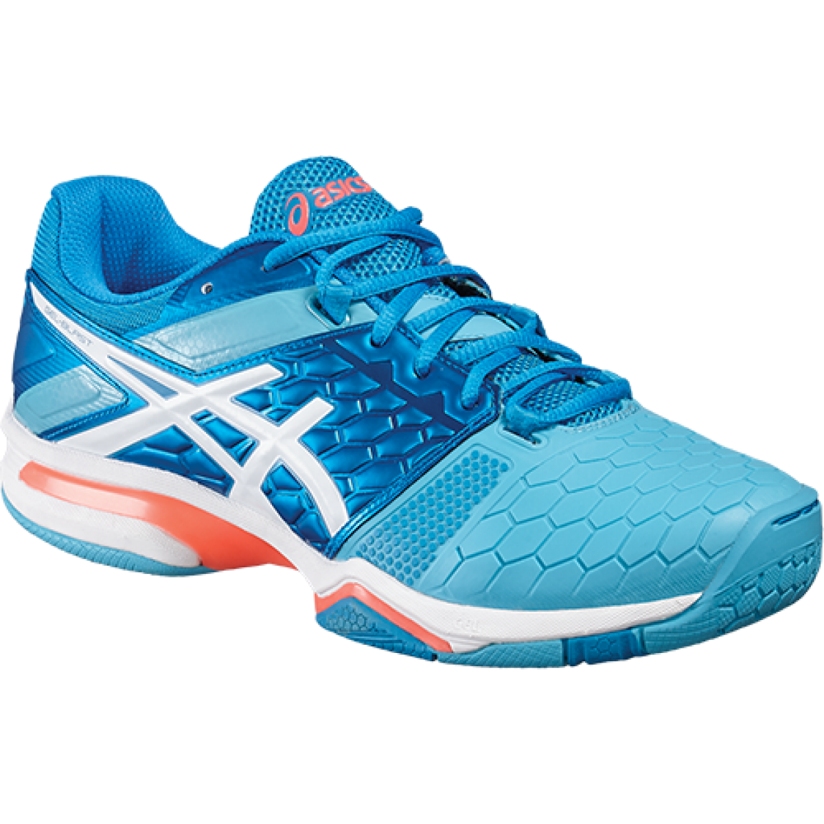 Asics Gel Blast 7 bluee Jewel White Flash Coral Women's court shoes E658Y 4301
