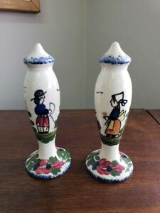 Blue-Ridge-Pottery-French-Peasant-Tall-Salt-amp-Pepper-Shakers