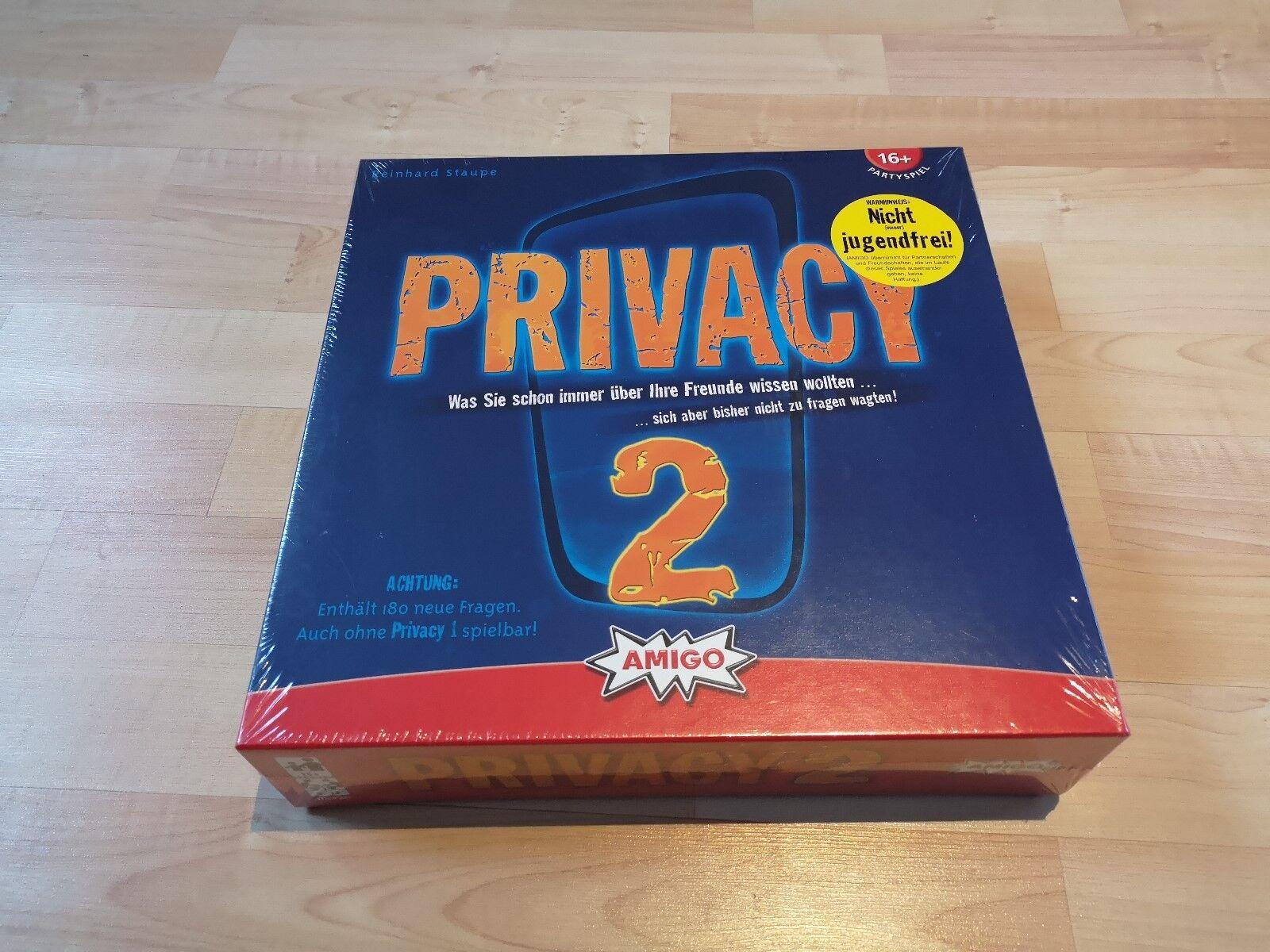 Brettspiel Spiel Privacy 2 von Amigo Partyspiel unbespielt in OVP  1552