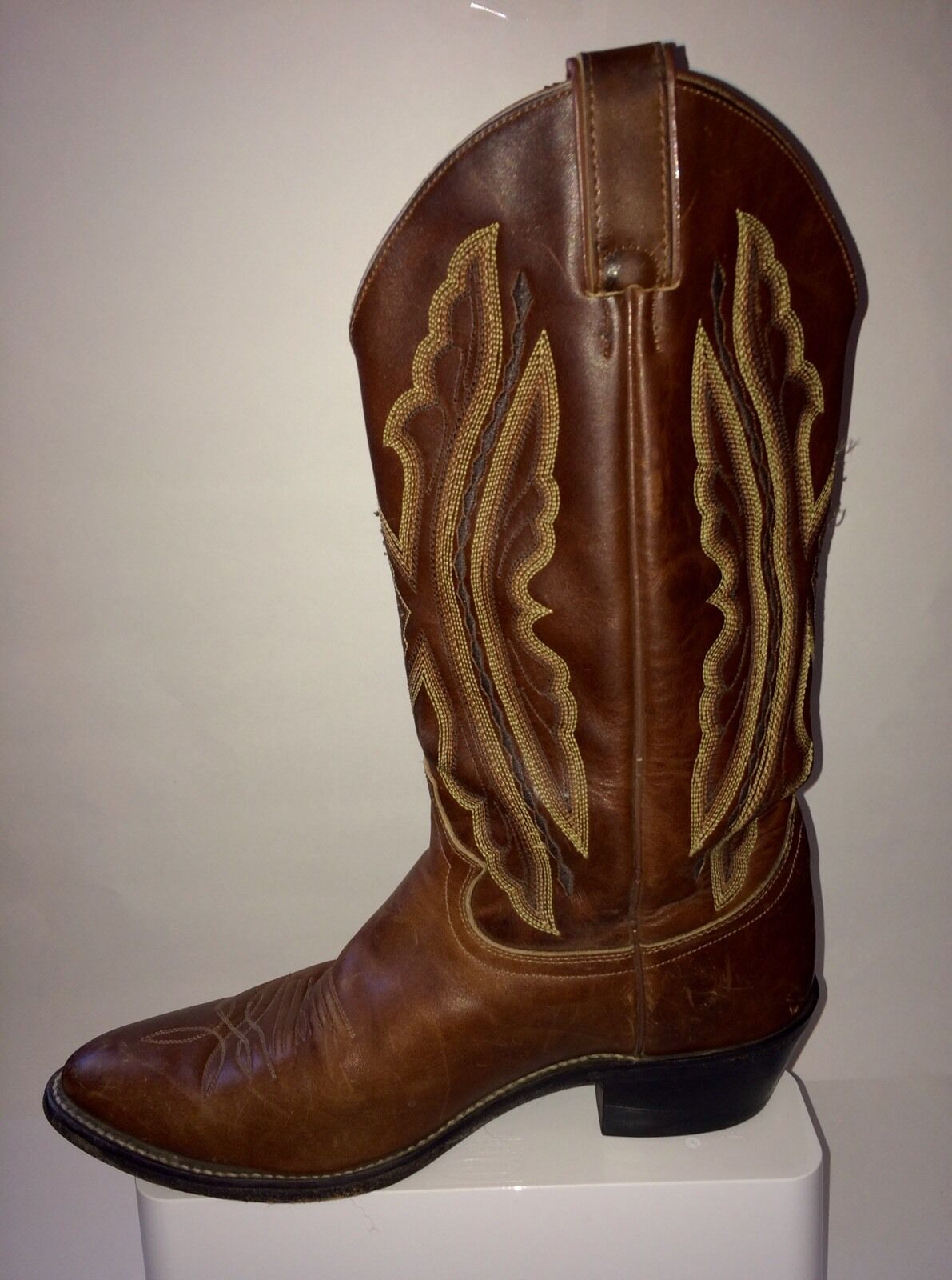 Justin oiled Leder mens USA cowboy Stiefel Made in USA mens  9 D In Excell Cond 0c2727