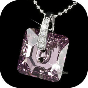 925-Sterling-SILVER-18K-White-GOLD-GP-PENDANT-made-with-Swarovski-crystal