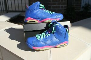 buy popular af53c 06517 Image is loading Nike-Air-Jordan-6-Retro-GG-543390-439-