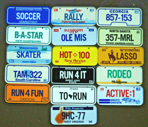 1983 POST HONEYCOMB CEREAL BICYCLE LICENSE PLATE You Choose 1