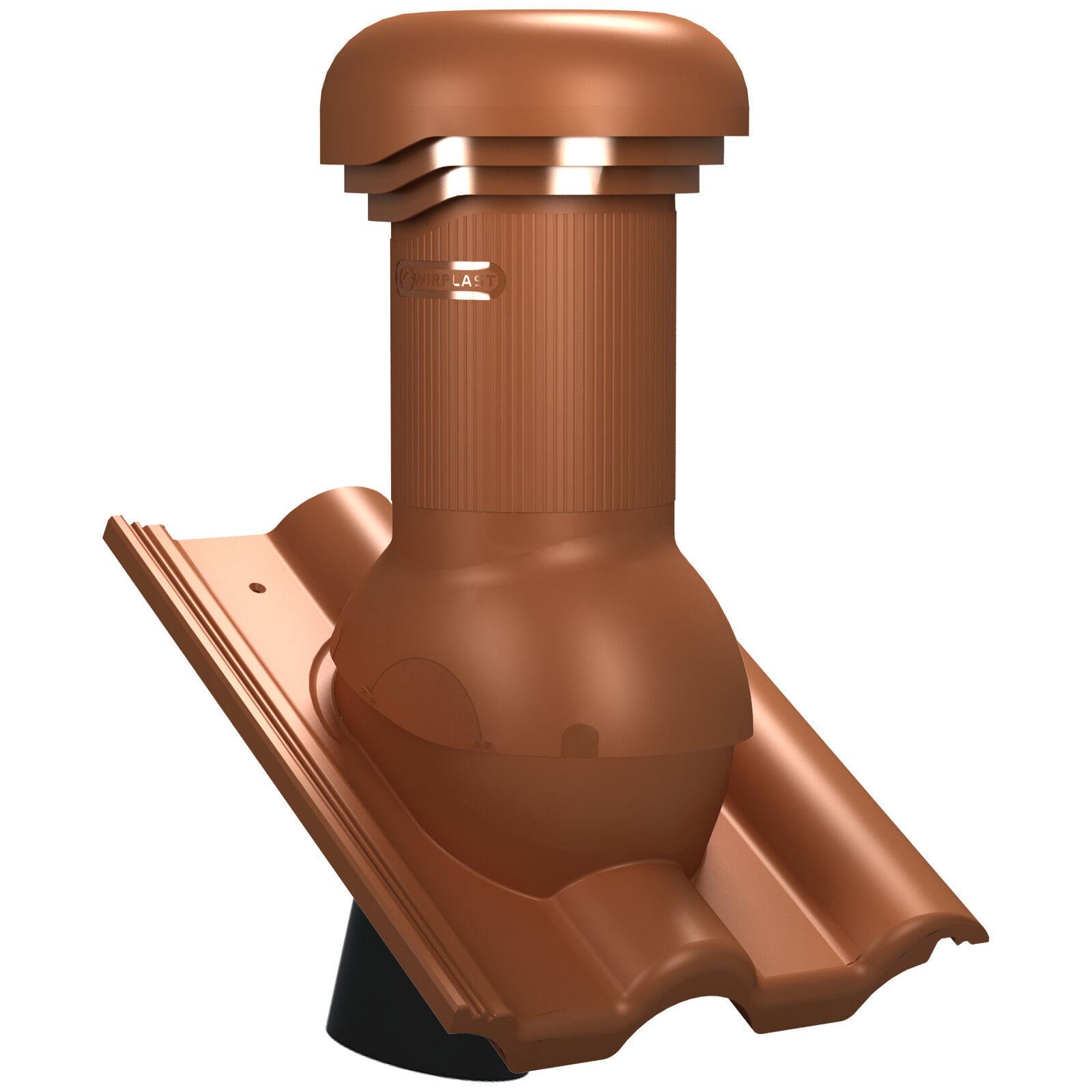 Entlüfterkamin PRO DN125 für Creaton Heidelberg Dachziegel Lüfter mit Ventilator