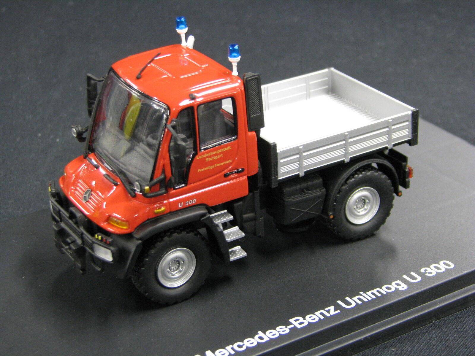 Schuco Mercedes-Benz Unimog U300 1 43  Feuerwehr  FFW Stuttgart (JS)