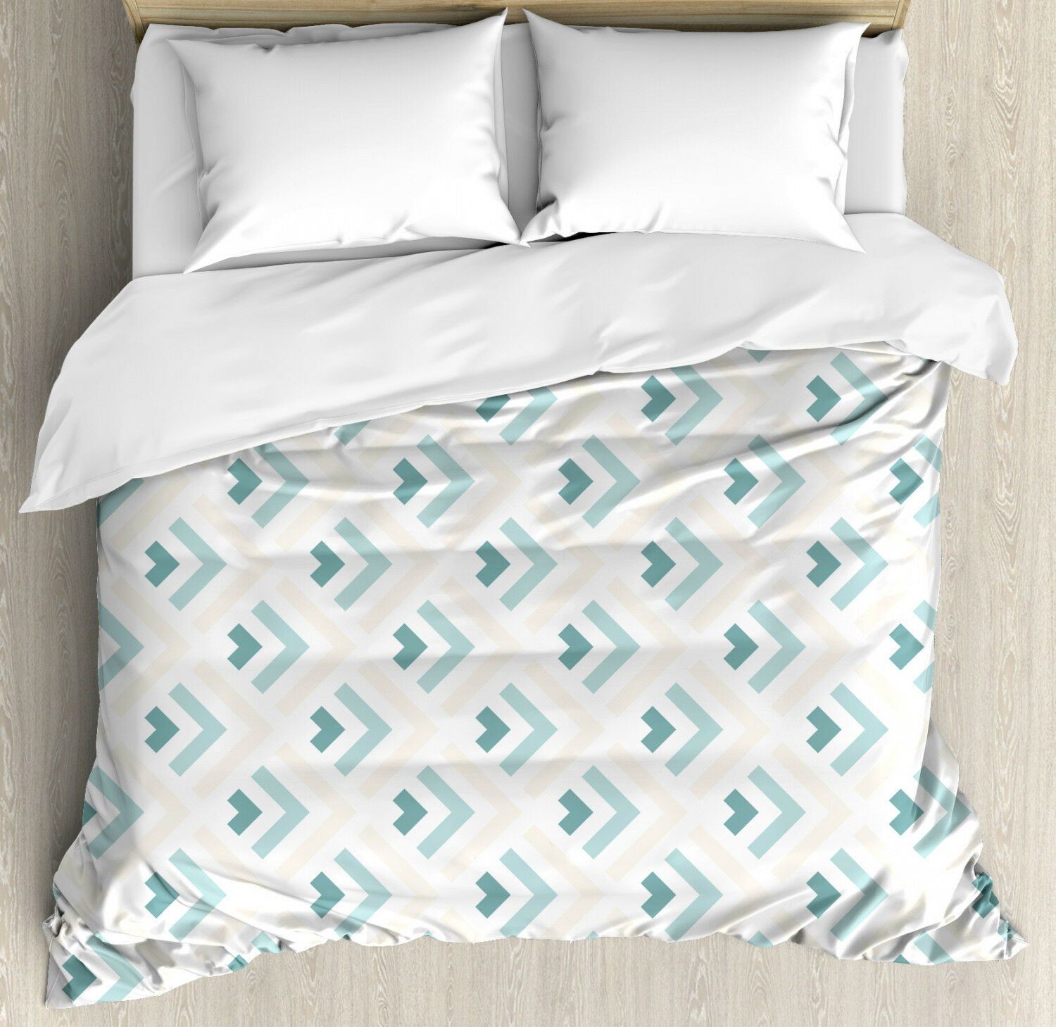 Retro Duvet Cover Set with Pillow Shams Minimalist Arrows Artful Print