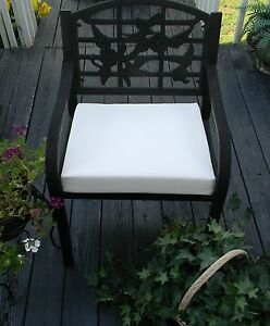 Image is loading Sunbrella-Fabric-Canvas-White-Outdoor-Patio-Chair-Cushion- & Sunbrella Fabric Canvas White Outdoor Patio Chair Cushion Pad ...