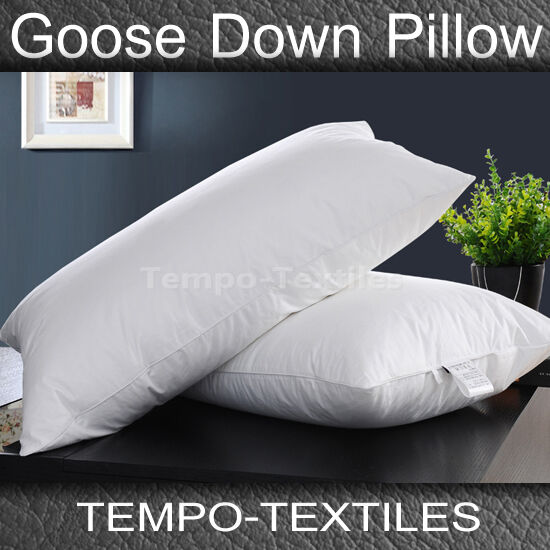 1/2PC Pack 50% White Goose Down 50% Feather Standard Pillow & Pure Cotton Cover
