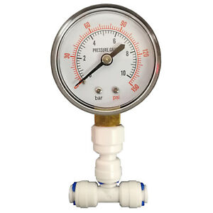 """Original Pressure Gauge For Reverse Osmosis Systems With 1/4"""" Connection By Finerfilters In Pain Fish & Aquariums Pet Supplies"""