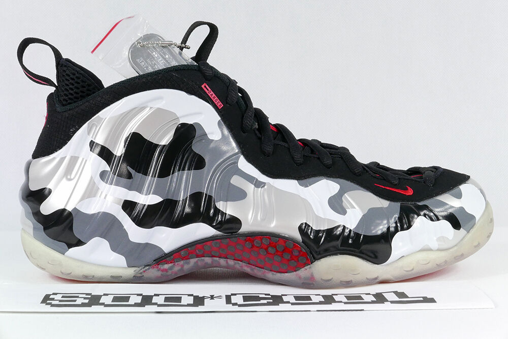 Nike Foamposite Fighter Jet Foams Camo Silver Red 100% Deadstock DS US 12