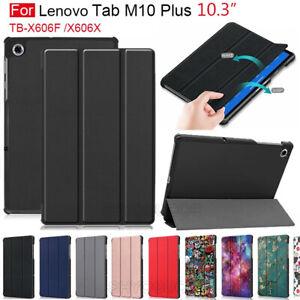 "For Lenovo Tab M10 FHD Plus TB-X606F 2020 10.3"" Smart Flip Case PU Leather Cover"