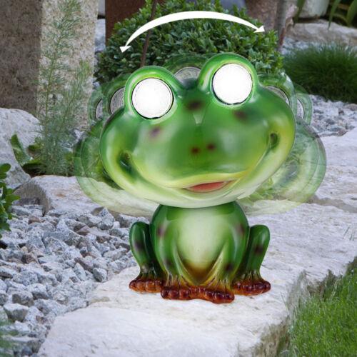 LED Solar Frosch Leuchte Garten Weg Beleuchtung Beet Deko Tier Figur Lampe grün
