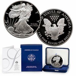 2004-w-Proof-Silver-Eagle-w-all-Boxes-amp-COA