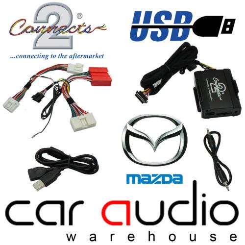 Connects2 ctamzusb002 Mazda 6 2009 En Adelante Usb Aux en entrada coche Interface Adaptador