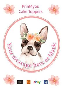 Image Is Loading Watercolour Boston Terrier Dog Birthday Personalised Round Cake