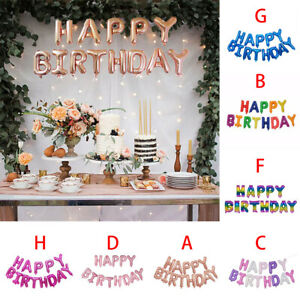 LARGE HAPPY BIRTHDAY SELF INFLATING BALLOON BANNER BUNTING PARTY DECORATION dD