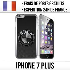 Coque iPhone 7 Plus - BMW Logo Carbone