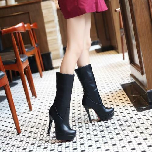 Details about  /New Women/'s Round Toe Platform Stilettos High Heels Shoes Solid Casual Fei34