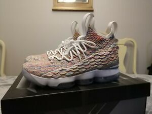 save off aa988 660c5 Details about Nike Lebron XV 15 Fruity Pebbles Cereal Multicolor Men's  Shoes Sz 10